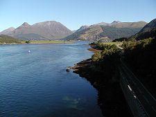 View from the Ballachulish Bridge --- glen coe