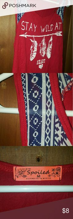 Spoiled tank Red and blue western style tank spoiled Tops Tank Tops