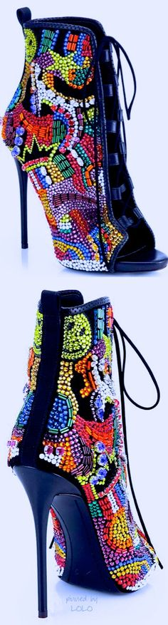jewelled booties