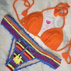 BiquiniFrevo #vemverao #beach #verao2017 #biquinidecroche #crochet #boho #handemade #hippiechic
