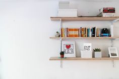 Sounds basic but if you are lacking in storage shelving can solve your problems and they don't have to be expensive. We picked up wall brackets from a D.I.Y store for next to nothing and the ply is a large sheet from a timber yard cut in 3. So long as you re fill the holes prior to your departure most landlords are happy for you to put shelves up. Then comes the added pleasure of dressing and personalising your shelves.