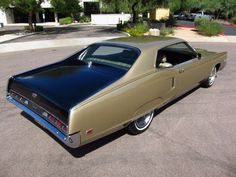 Showing off its sporty two-tone paint from this angle is the 1969 Mercury Marauder X-100.