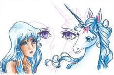The Last Unicorn: Sparkles by pegacorn on DeviantArt Unicorn Quotes, Unicorn Art, Animated Unicorn, Nightmare Night, Unicorn Tattoos, The Last Unicorn, Fantasy Creatures, Mythological Creatures, Mythical Creatures