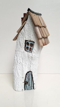 ooak Original handmade wooden fairy house ornament