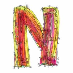 water-colored letters ...cool watercolor sketch idea