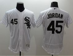 60454a65bad9e8 White Sox  45 Michael Jordan White(Black Strip) Flexbase Authentic  Collection Stitched MLB