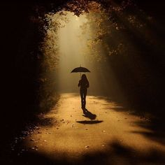 silhouette of young girl with umbrella. Photomontage, Silhouettes, Phoenix Legend, Rain Photo, Under My Umbrella, Foto Art, Light And Shadow, Rainy Days, Beautiful Images