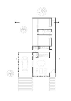 """""""Casas Catalinas"""" are family homes located in Rio Ceballos, along the Córdoba mountain range and away from the city. Small House Architecture, Detail Architecture, Architecture Plan, The Plan, How To Plan, Simple House Plans, House Floor Plans, Plan Ville, Granny Pods"""