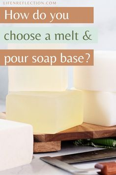 How do you choose a melt and pour soap base? Soap Supplies, Soap Making Recipes, Soap Base, Home Made Soap, Food To Make, Homemade, Homemade Dish Soap, Hand Made, Diy