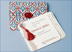 """Venetian Journal"" letterpress Save the Date from Dauphine Press. Customize yours with Paper Passionista."