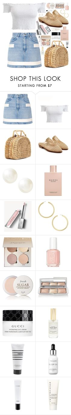 """""""Untitled #1085"""" by douxlaur ❤ liked on Polyvore featuring Givenchy, Kayu, Robert Clergerie, Banana Republic, Gucci, Burberry, BaubleBar, Essie, Fresh and Hourglass Cosmetics"""