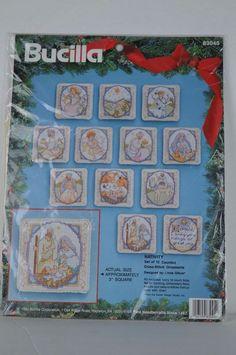 #Bucilla # 83045 #Nativity #Setof12 #Counted #Cross #Stitch #Ornaments #Bucilla