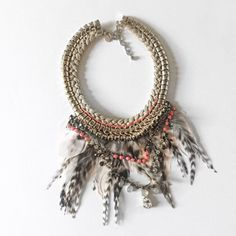 ✨HP✨//F e a t h e r • B i b • N e c k l a c e // Boho Rhinestone braided feather bib necklace from Express. Such a fun statement piece! ✨Host Pick • Style Crush Party • 3/01/16✨ Express Jewelry Necklaces