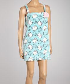 Blue Burnout Plush Hello Kitty Shower Wrap