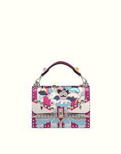FENDI KAN I - Bag in silver-colored and fuchsia leather - view 1 detail