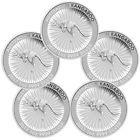 2017-P Australia $1 1 Troy oz. .9999 Silver Kangaroo - Lot of 5 Coins SKU43580 Best Value #silvercoins #troyoz #lotoz
