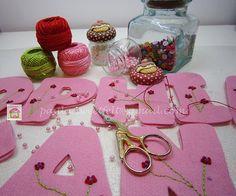 ♥♥♥ Florzinhas ... by sweetfelt \ ideias em feltro