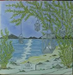 Debbie McComber's Come Home to Color - Sea by Lamp Light Colouring, Adult Coloring, Creative Haven Coloring Books, Debbie Macomber, Landscape Quilts, Color Pencil Art, Coloring Book Pages, Art Tips, Bird Houses