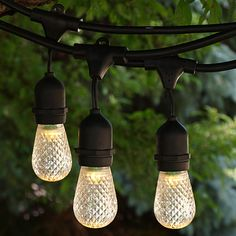 48 outdoor string lights med base suspended white hd pro series