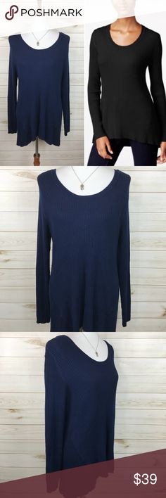 Style & Co Navy Boat Neck Swing Sweater NWT - Never Worn - Great Condition - Perfect for winter and super cute on! (Actual Sweater is Navy) Style & Co Sweaters
