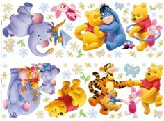 £10.48 from B&Q Winnie the Pooh and Heffalump Wallstickers in Multicolour by Disney, self adhesive, removable and re-positionable