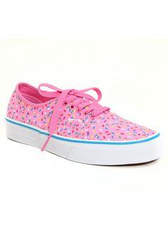 43f264320d9da1 Vans Pink Sprinkles Authentic Lace-Up
