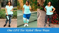 One LIVI Activewear Tee Styled Three Ways   Estrella Fashion Report Grey Leggings, Printed Leggings, Third Way, Mint Color, Plus Size Activewear, Lane Bryant, The Dreamers, Joggers, Active Wear