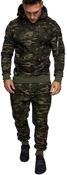 Bekleidung, Herren, Streetwear, Trainingsanzüge Mens Jogging Suits, Mens Suits, Streetwear, Camo Colors, Tracksuit Set, Long Pants, Colorful Fashion, Everyday Fashion, Fitness