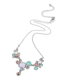 Another great find on #zulily! Opal Green & Rose Swarovski® Crystal Necklace by callura #zulilyfinds