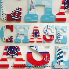 Hey, I found this really awesome Etsy listing at https://www.etsy.com/listing/223252307/nautical-theme-wooden-letters