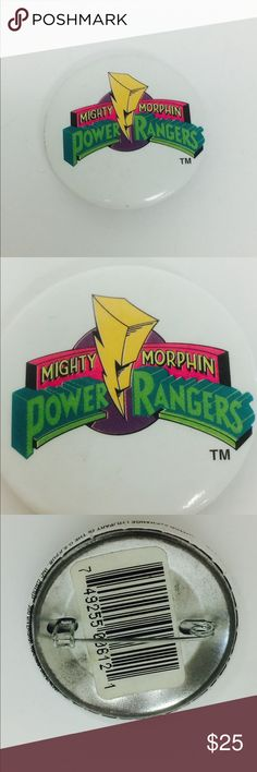 Mighty Morphin Power Rangers Vintage 90's Pin Awesome 90's Power Rangers Collectable pin. Power Ranger Other