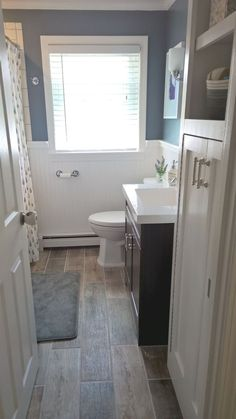 Home Renovation Ideas On a budget bathroom design ideas. Every bathroom remodel starts with a design suggestion. From full master bathroom restorations, smaller sized guest bath remodels, and bathroom remodels of all sizes. Home Renovation, Home Remodeling, Bedroom Remodeling, Bathroom Remodel Pictures, Bathroom Renos, Washroom, Bathroom Cabinets, Ikea Bathroom, Bathroom Small