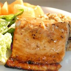Baked Salmon Fillets Dijon Allrecipes.com. Sounds really good! I would serve this at any type of dinner; casual or formal.