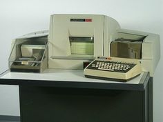 Wow, to think I used to work on one of these - Univac keypunch machine.