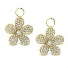 diamond flower ear charms @KC Designs