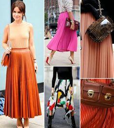 Faldas plisadas muy de moda
