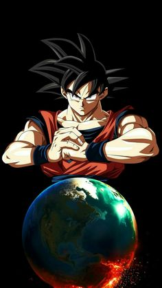Goku (Dragon Ball Super) (c) Toei Animation, Funimation & Sony Pictures Television Dragon Ball Gt, Foto Do Goku, Dbz Wallpapers, Goku Wallpaper, Ball Drawing, Manga Anime, Otaku, Farmhouse Paintings, Manga