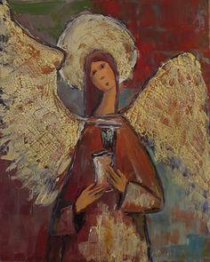 Marko Sapiołko ''Angel'' oil 40x50