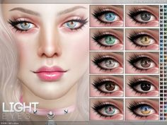 The Sims Resource: Light Eyes N108 by Pralinesims • Sims 4 Downloads