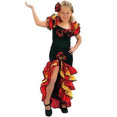 Disfraz de Rumbera #infantil #disfraces