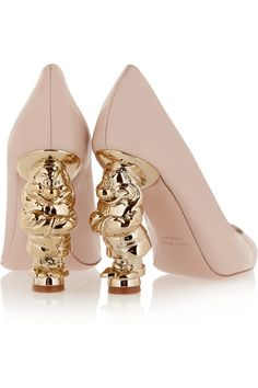 REDValentino | Snow White Disney© patent-leather pumps with dwarf heels!  | NET-A-PORTER.COM