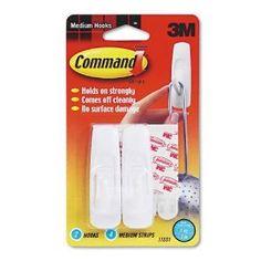 3M Scotch Command Removable Utility Hooks, 3-lb Capacity, Plastic, White, Set of 2 by 3M. $5.22. General Purpose Hooks