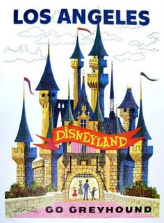 Love the simple lines on this poster.  Although, that does look a bit more like WDW's castle.
