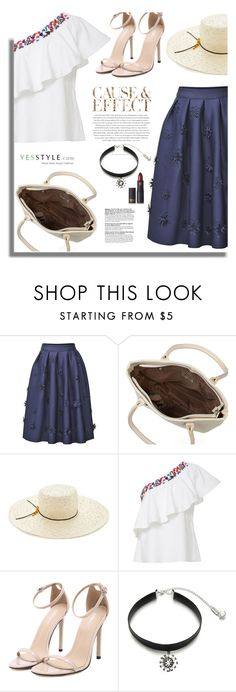 """Yesstyle.com: Cause & Effect"" by hamaly ❤ liked on Polyvore featuring ANS, Eugenia Kim, Saloni, Envi, Ticoo, Lipstick Queen, party, anniversary, celebration and yesstyle"