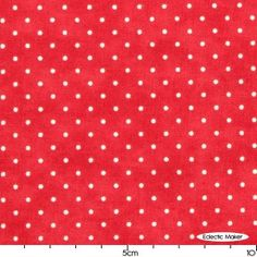 Moda Essential Dots in Christmas Red