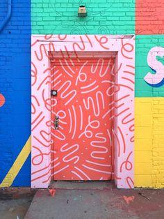 fun murals ~ fun murals + fun murals for kids + fun murals paint + fun murals awesome + fun murals to paint + fun murals for kids rooms + fun murals children + fun wall murals Murals Street Art, Street Wall Art, Best Street Art, Posca Art, Memphis Design, Mural Wall Art, Mural Painting, Illustration, Environmental Design