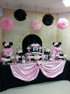 Minnie Mouse Bowtique Party Candy Buffet