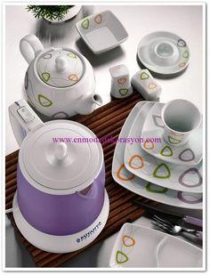 Kütahya Porselen Corner Medusa 40 parça kahvaltı takımı Medusa, Porcelain, Jellyfish, Porcelain Ceramics, Tableware
