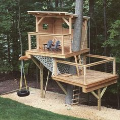 Outdoor Forts, Kids Outdoor Play, Backyard For Kids, Backyard Projects, Backyard Ideas, Garden Ideas, Pallet Projects, Pallet Ideas, Nice Backyard
