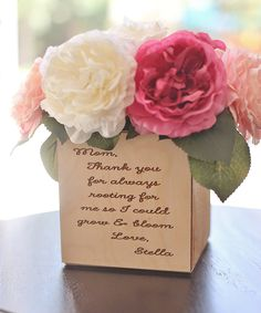 Love this Small Personalized 'Mom' Planter Box by Morgann Hill Designs on #zulily! #zulilyfinds